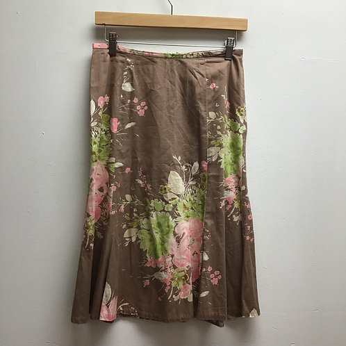Liz Claiborne brown floral skirt