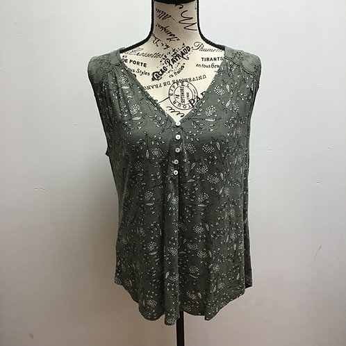 NWT Lucky brand green floral tank