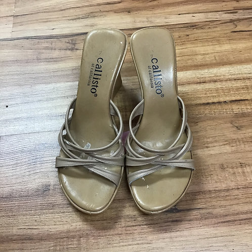 Callisto wedges with strappy top