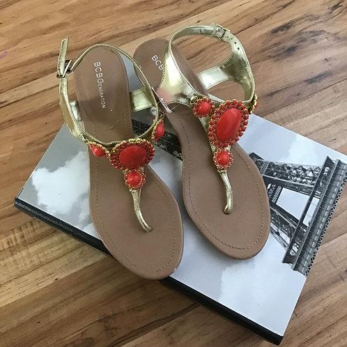 BCBGeneration Wedge Sandals Size 7.5