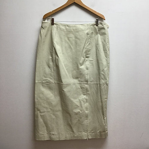 Metrostyle ivory leather skirt