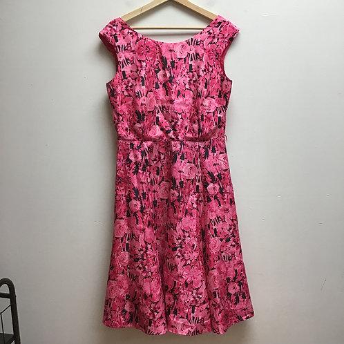 Julian Taylor pink floral patterned dress