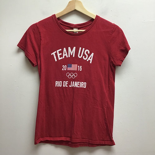 Anvil red USA tee