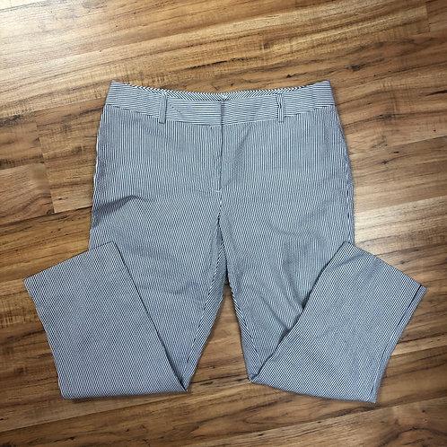 Talbots blue & white striped pants