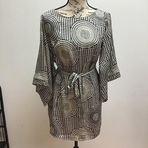 Ark & co black & white patterned dress
