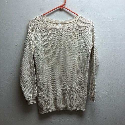 Aeropostale white knit sweater