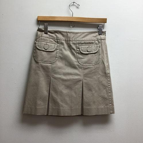 LOFT Khaki Pleated Skirt Sz 2