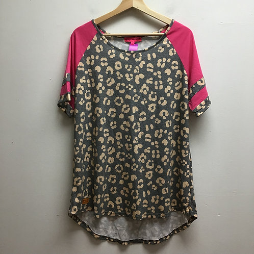 SOLD! Simply southern leopard print tee