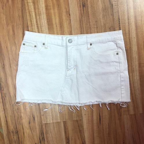 American eagle white denim skirt