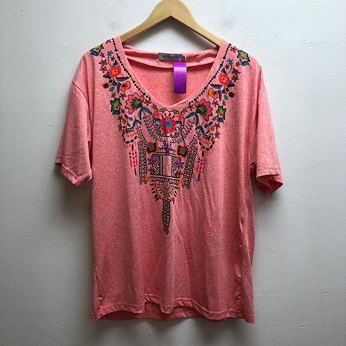 Misslook pink patterned top