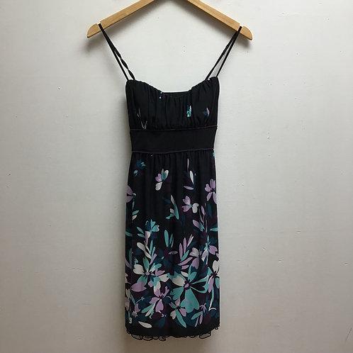 Speechless black floral print dress