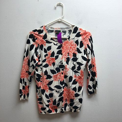Talbots floral patterned cardigan