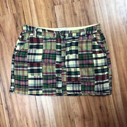 Old navy green & yellow plaid skirt