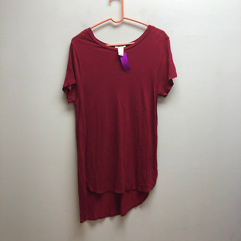Persaya red tee with slits on sides