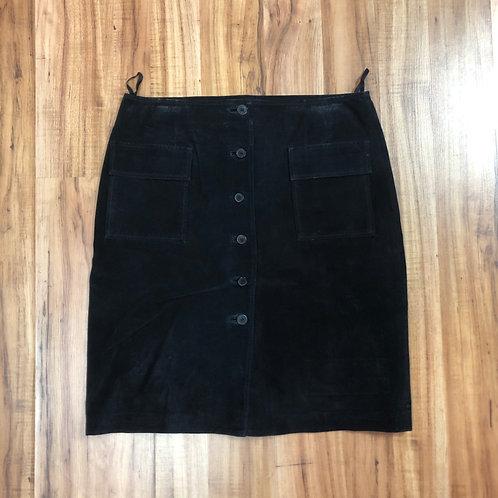 Mossimo black suede skirt
