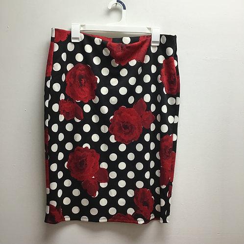 Nycc rose & polka dot skirt