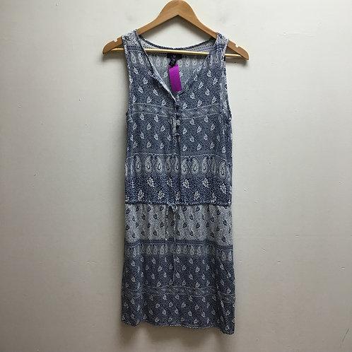Gap blue & white patterned dress