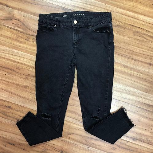 White House black market black skinny ankle jeans