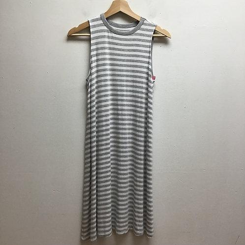 Time & tru gray & white striped dress