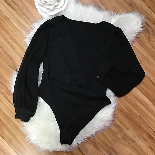 SHEIN Black Bodysuit Size L