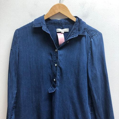 Loft- Blue denim button up front