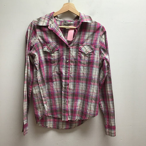 SOLD-Wrangler plaid button up