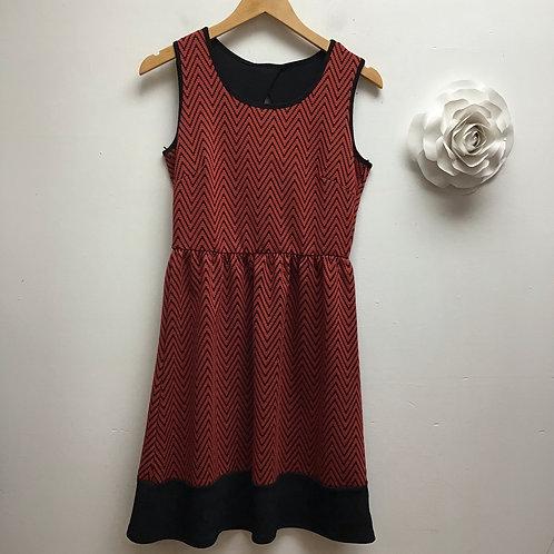 Lelis red & black patterned dress