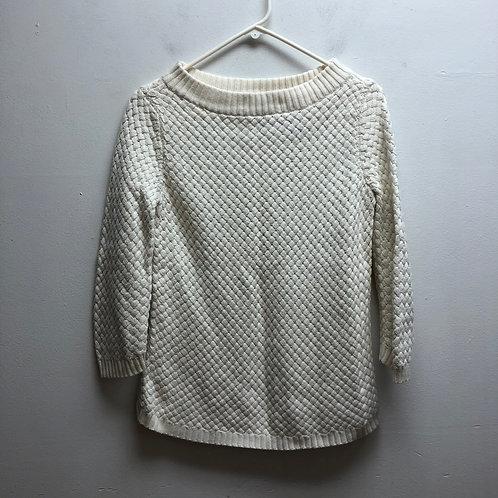 Talbots white sweater