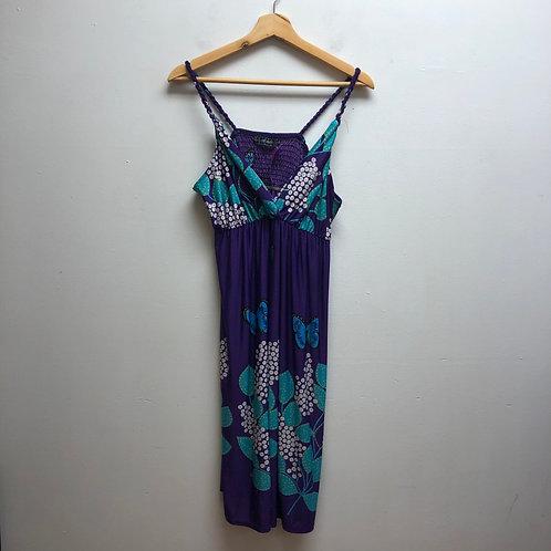 Ice silk purple dress