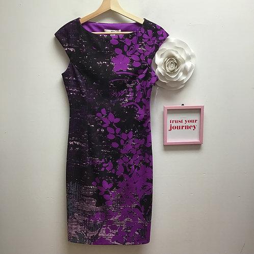 NWT Wisp black & purple dress
