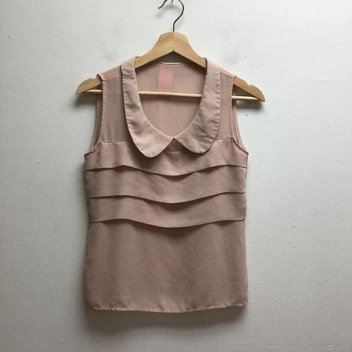 Sheer nude/dusty rose top