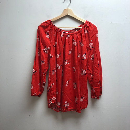 Old navy red floral top