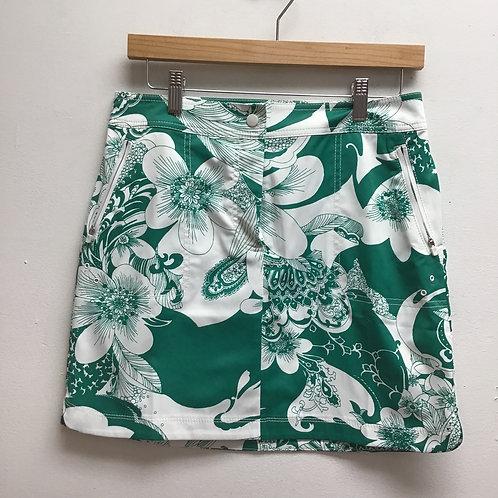Talbots Green & White Mini Skirt-Size 4P