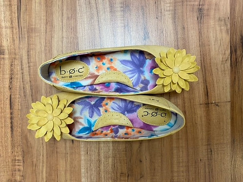 Yellow Floral Shoes