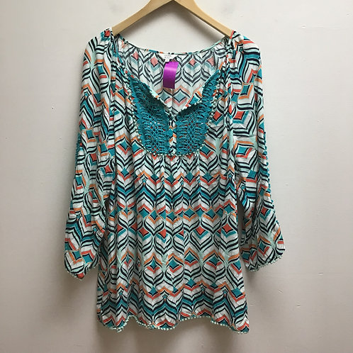 Crown & ivy multicolored top