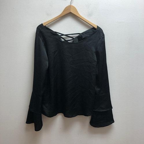 HYFVE black silky-like top