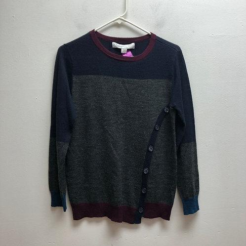 Curio gray/maroon/navy sweater