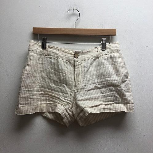 Cynthia rowley beige & white striped shorts