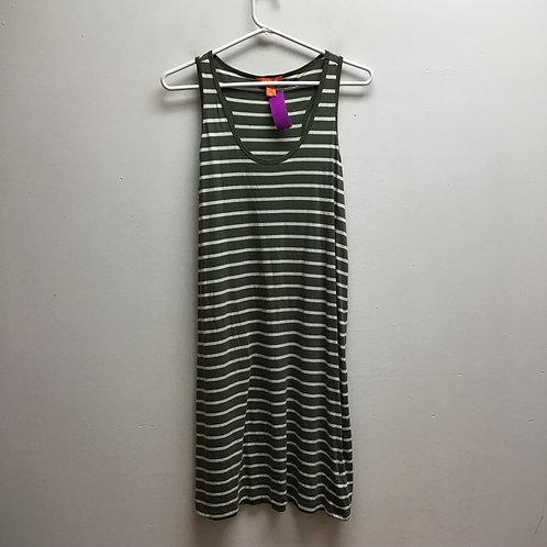 Joe fresh green & white striped dress