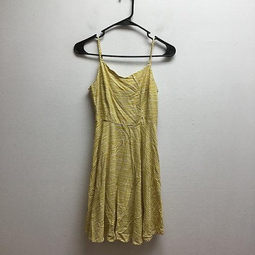 Old navy yellow & white striped dress