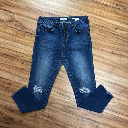 Wild blue skinny crop jeans