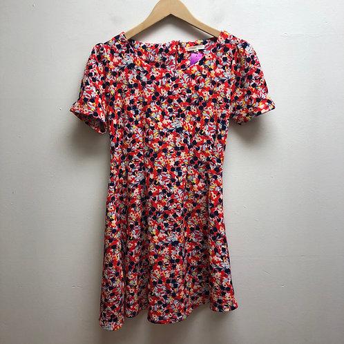 Copper key floral dress
