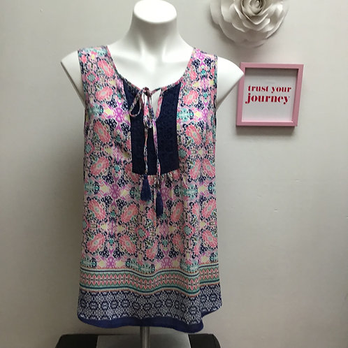 DR2 Multicolored Sheer Tank Size M