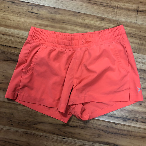 Coral athletic shorts