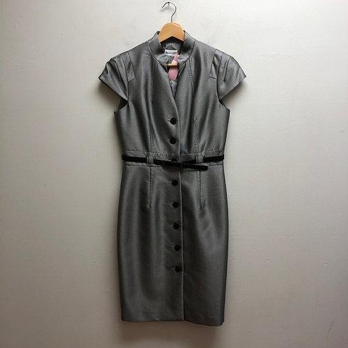 Satin Gray Dress Blouse