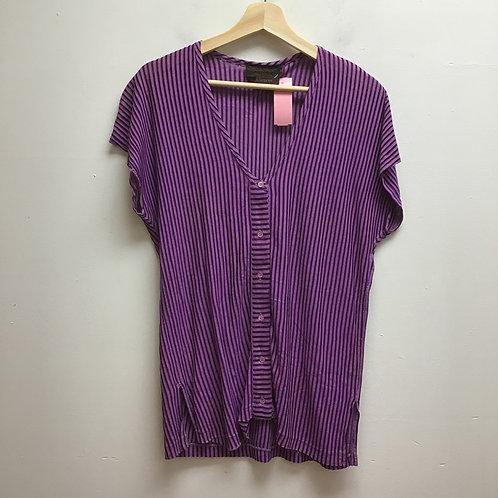 Claudine purple striped top