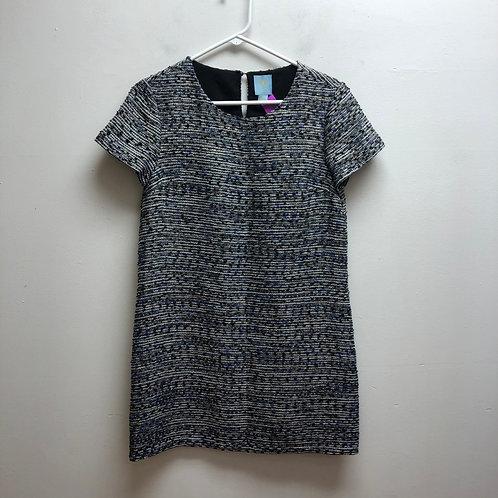 Cece white/blue/white dress