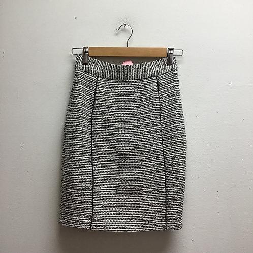 H&M black & white tweed skirt