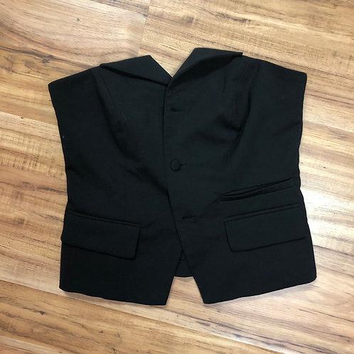 Soho jeans black strapless vest top