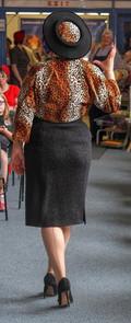 Faux Leopard Crown Cartwheel